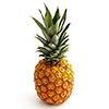 fresh pineapple isolated on the white background